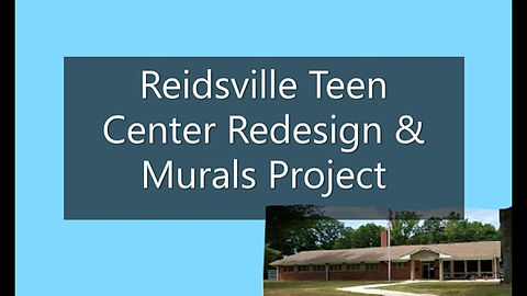 The story of the interior redesign and murals created in 2018 for the City of Reidsville, NC.