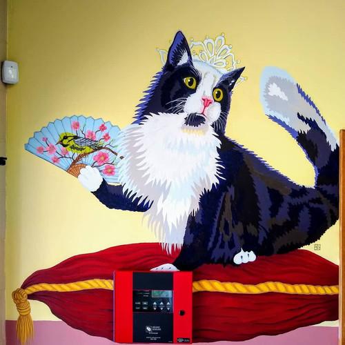 Queen Kitty Mural