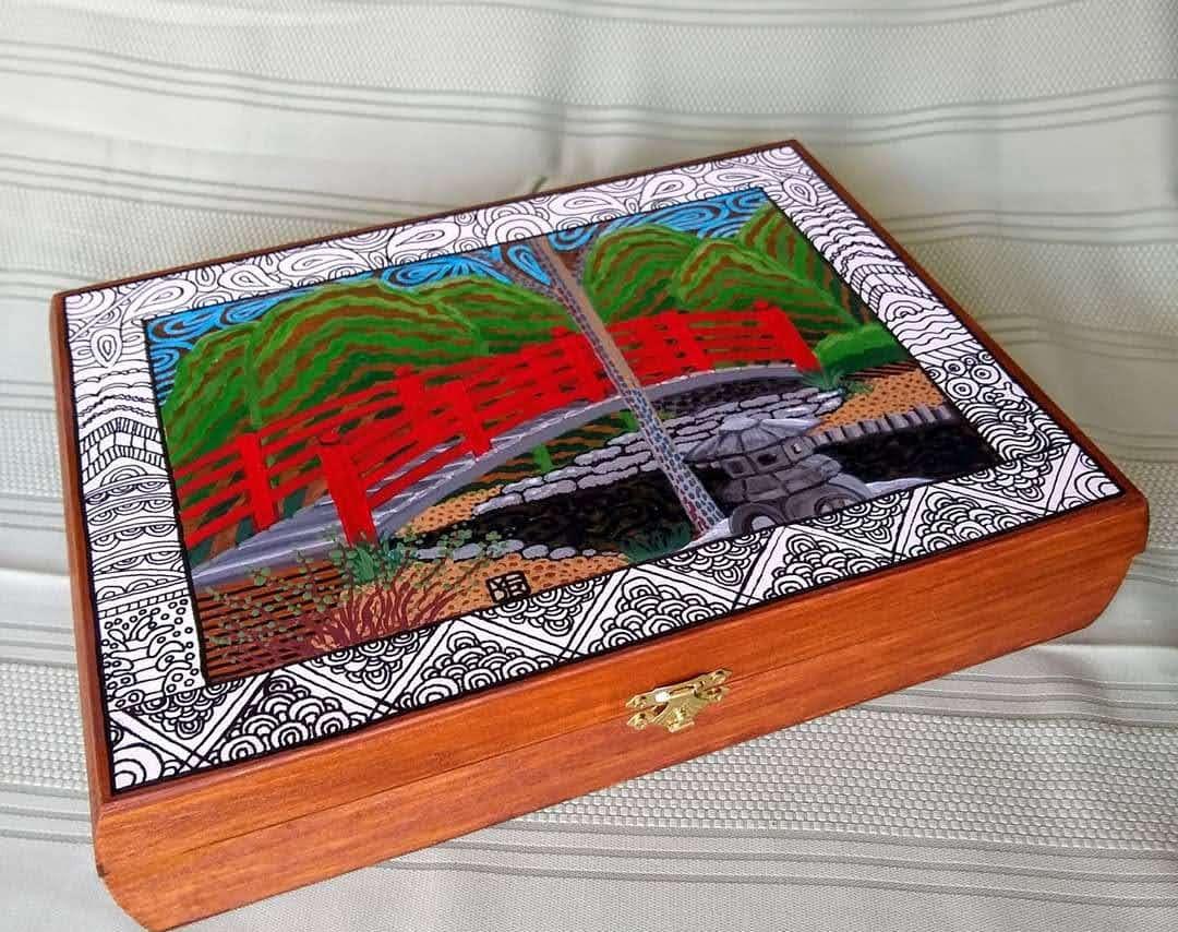 Japanese Garden Art Box