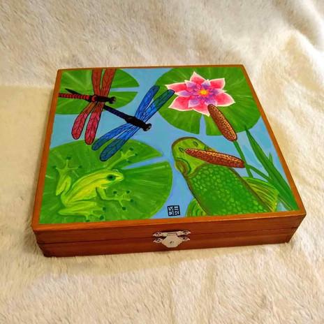 Springtime Pond Art Box