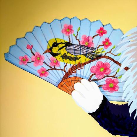 Queen Kitty's Bird Fan