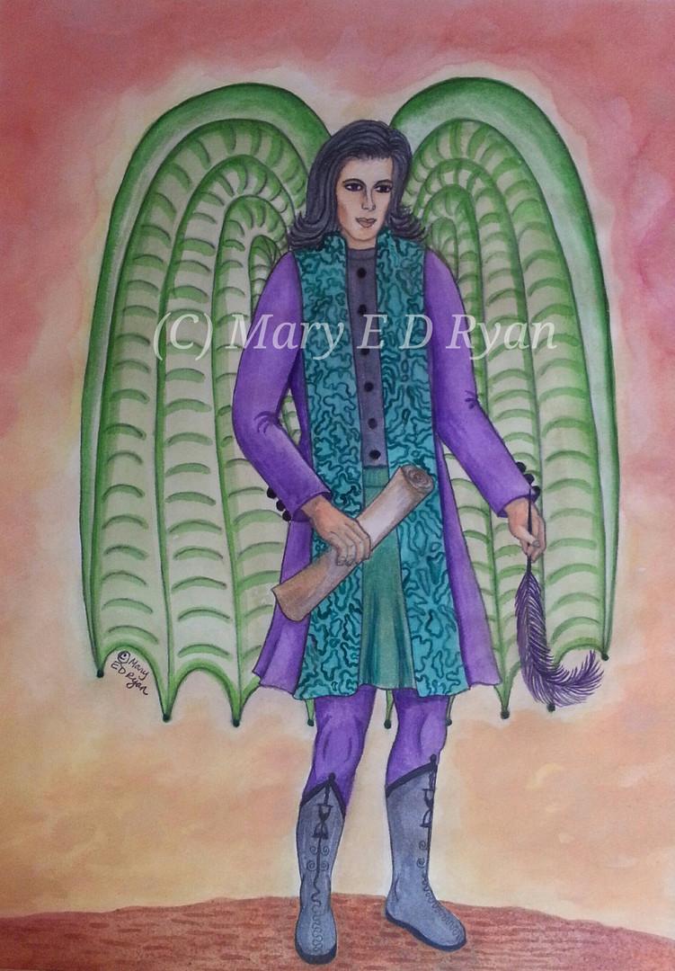 Watercolor Archangel Metatron
