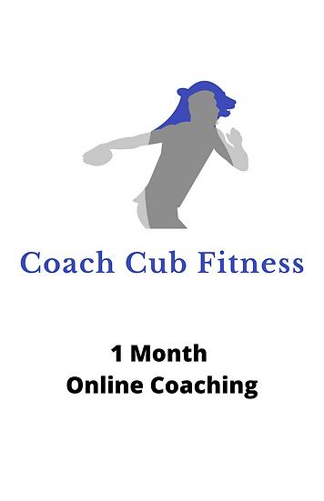 1 Month (4 Weeks) - Online Coaching