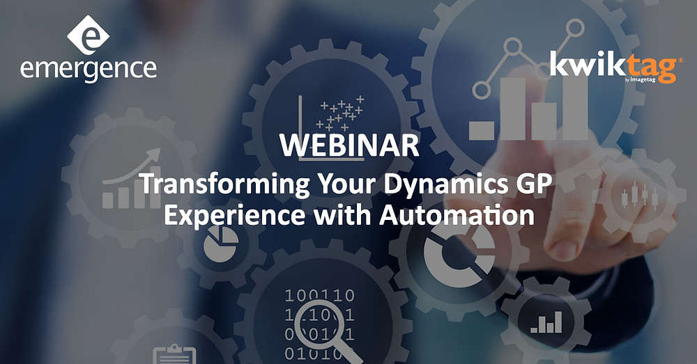 Join us for our webinar on Transforming your Dynamics GP Experience