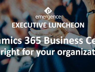 Emergence to host Executive Luncheon on Microsoft Dynamics 365 Business Central