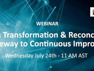 WEBINAR: Business Transformation & Reconciliations: The Gateway to Continuous Improvement