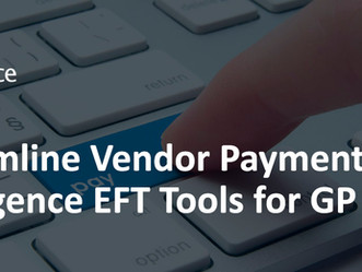 Electronic Funds Transfer (EFT) Tools for Dynamics GP