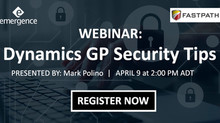 WEBINAR: Dynamics GP Security Tips