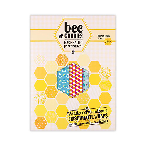 Bee Goodies - Frischhalte Wraps FAMILY PACK