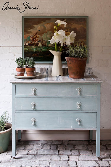 Duck Egg Blue wash cabinet, Country Grey
