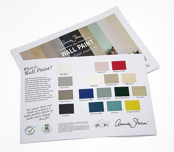 Wall Paint Colour Card reverse over fron