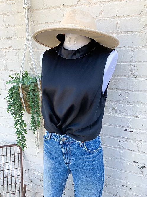 Theory Silk Collared Blouse