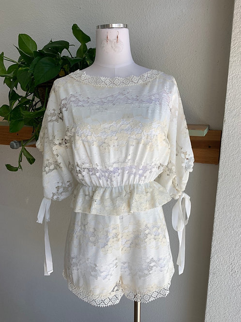 NWT Foxiedot Lace Romper