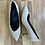 Thumbnail: ALL BLACK Textured Cream Kitten Heels