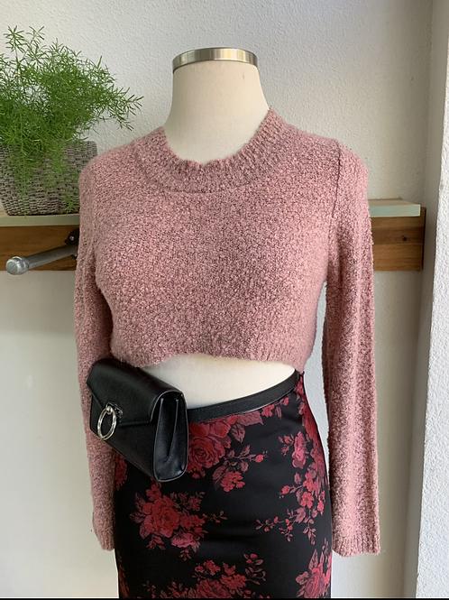 Textured Crop Sweater