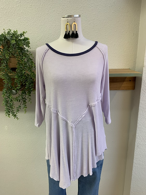 Free People Lilac Tunic Top