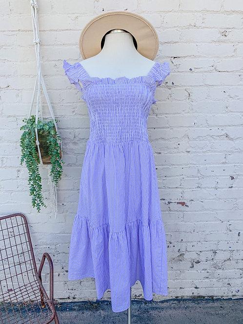 NWT Eloqui Smocked Midi Dress