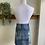 Thumbnail: Evident Distressed Denim Skirt