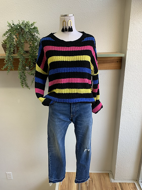 NWT Colorful Striped Sweater