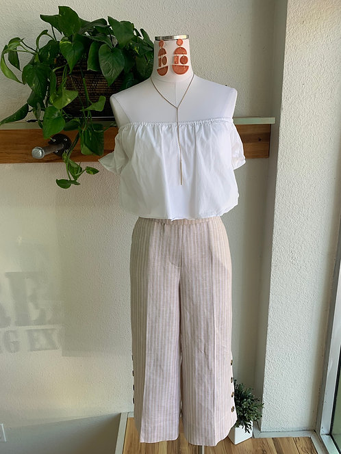 New Linen Cropped Pants