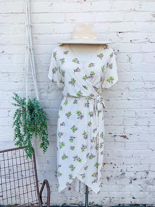Eloise Faux Wrap Midi Dress