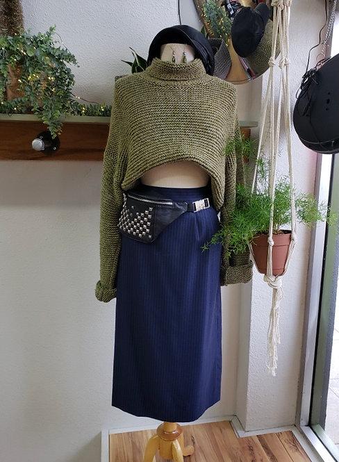 Vintage Navy Striped Skirt
