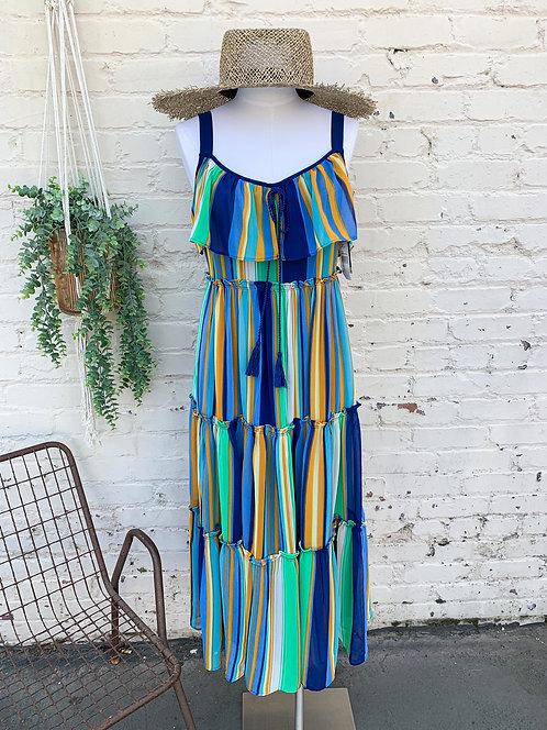 NWT Taylor Striped Tier Dress