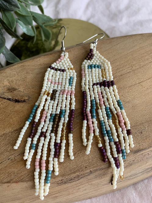 "Local | Handmade ""Abstract"" Beaded Earrings"
