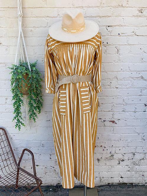 Vintage Marigold Ruffle Dress