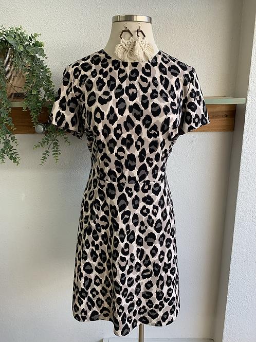Eliza J. Neutral Leopard Print Dress