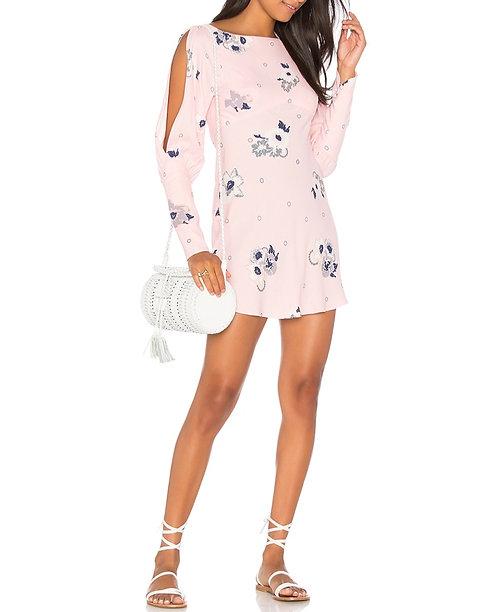 NWT Free People Pink Cold Shoulder Dress Sz 4