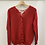 Thumbnail: Red Lace Up Back Sweater