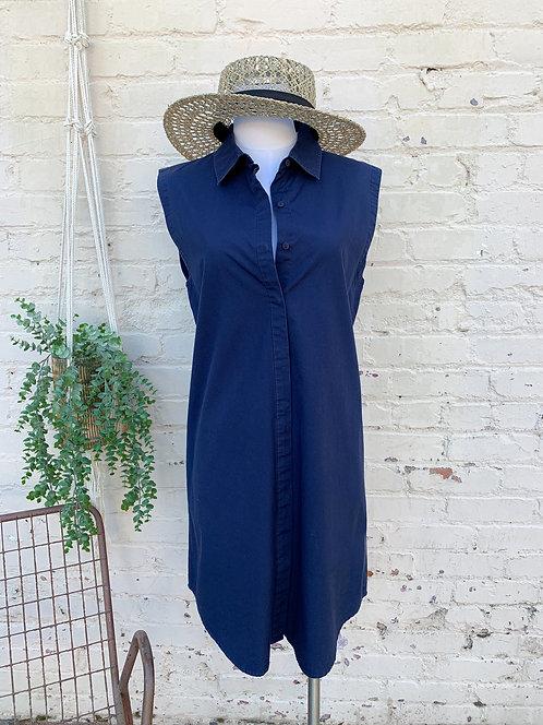Eileen Fisher Sleeveless Cotton Shirt Dress