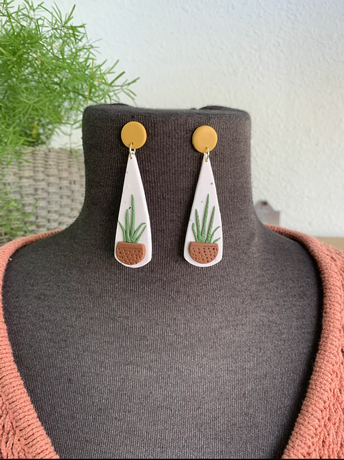 Handmade Potted Plant Earrings