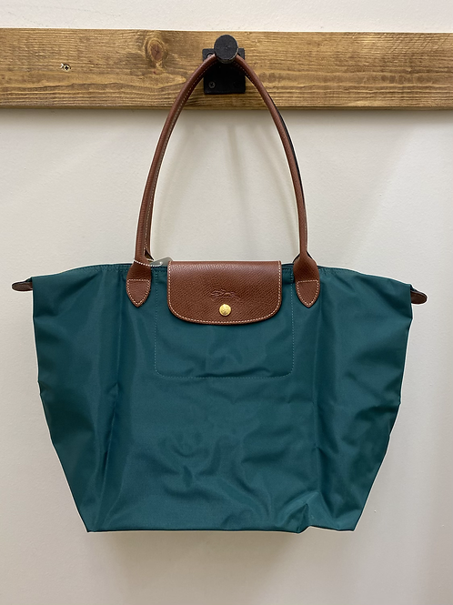 Longchamp Teal Compactable Tote