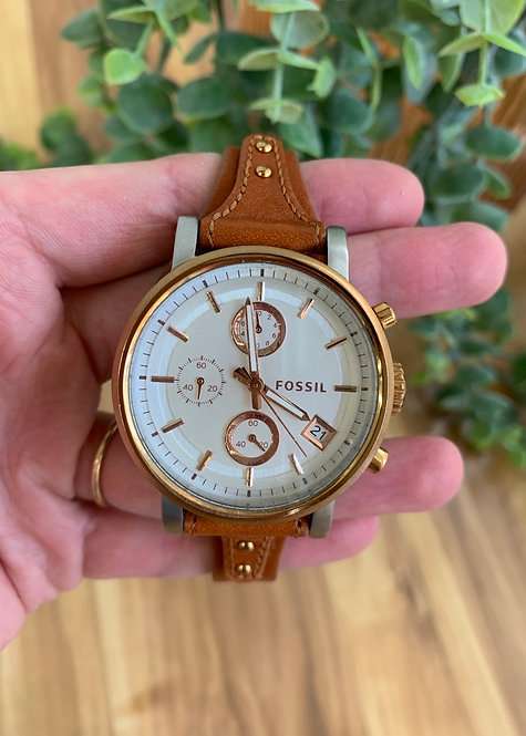 Fossil Leather Band Watch