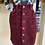 "Thumbnail: Corduroy  Buttondown Skirt ""Wine"""
