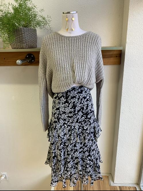 Ruffle Teired Midi Skirt