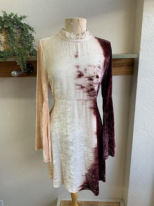 Crushed Velvet + Tie-Dyed Dress