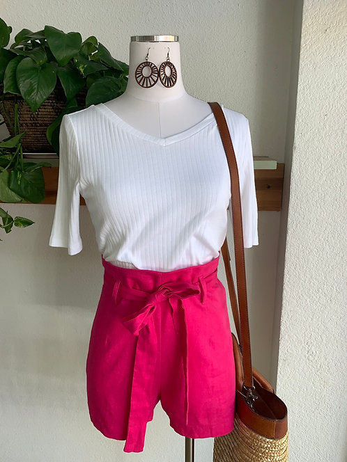 Highrise Paperbag Waist Shorts