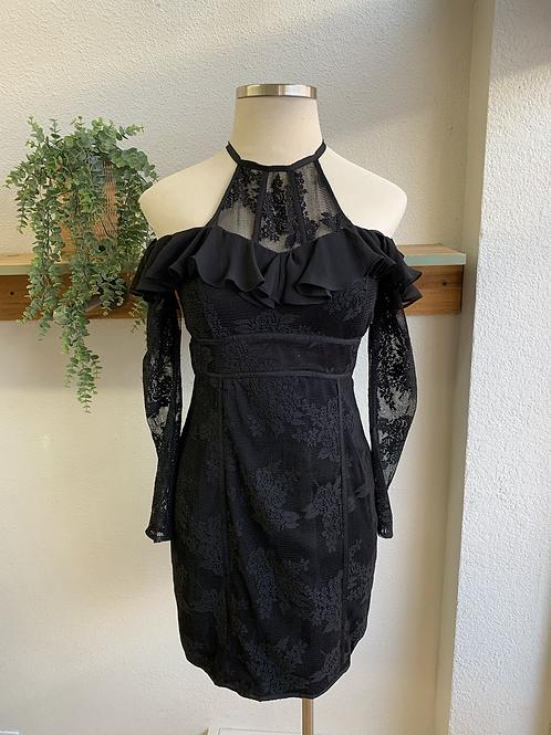 Jet Set Diaries Lace + Ruffle Dress