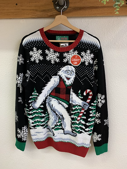 New Light Up Sasquatch Christmas  Sweater