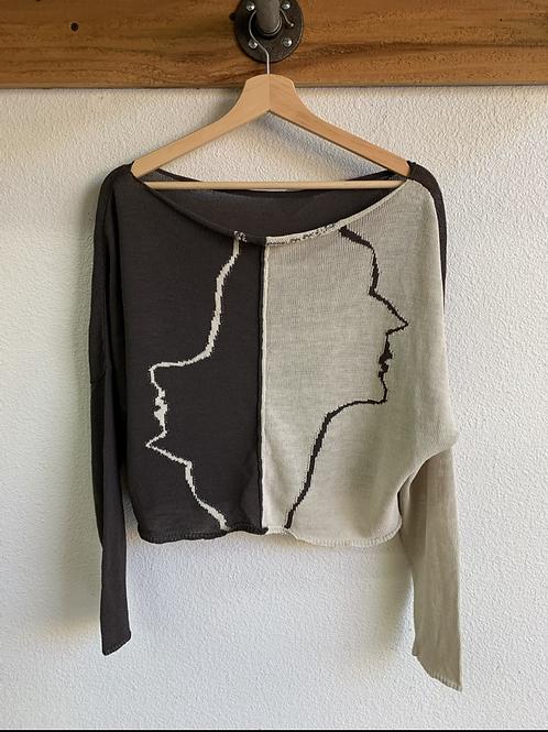 Sarah Pacini Profile Knit Top
