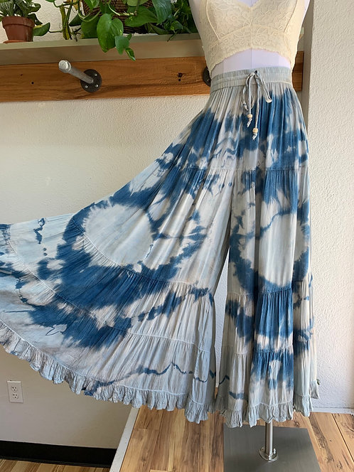 """Local Hand Dipped Highrise Palazzo Pant """"Ocean"""""""