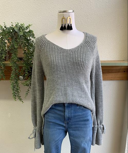 Tied + Mini Bell Sleeve Sweater