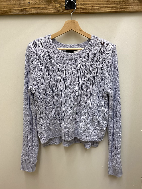 Periwinkle Cable Knit Sweater