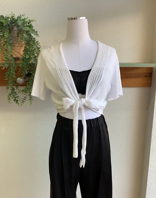 Knit Front Tie Top