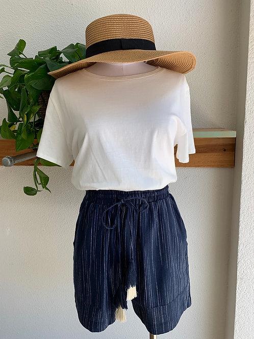 New Highrise Tie Waist Linen Shorts