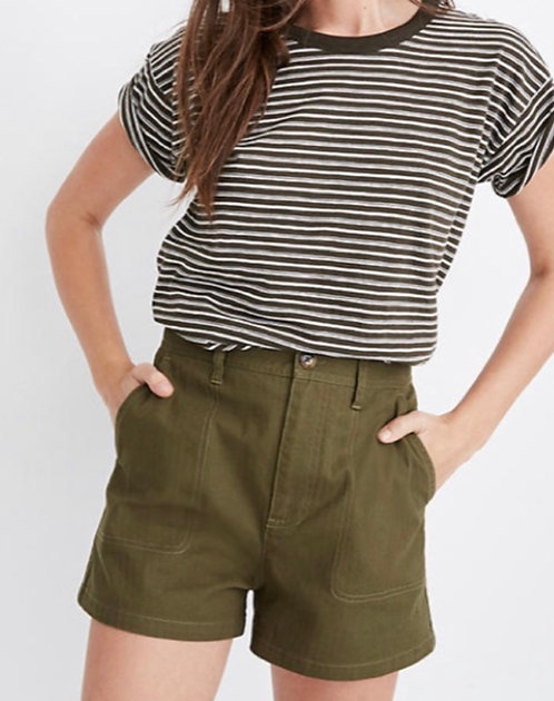 "NWT Madewell Green ""Camper"" Shorts"