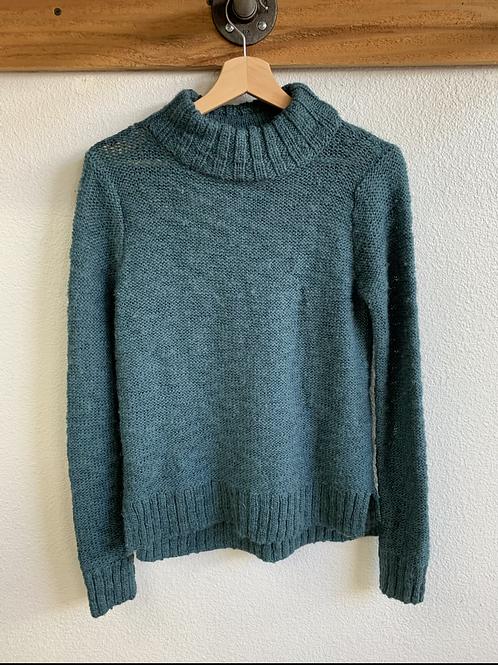 Teal Chunky Crew Neck Sweater